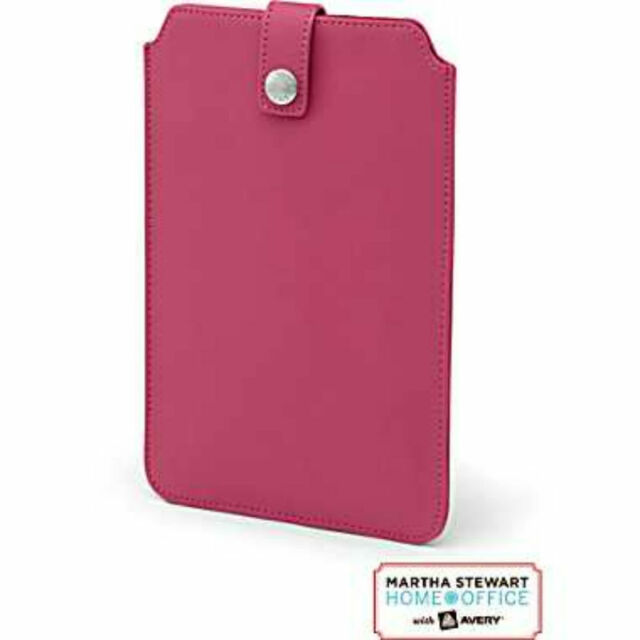 Martha Stewart Home Office with Avery 7 Inch Tablet Slim Sleeve Pink 06417