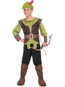 quality design 9cd46 7c7c0 Dettagli su Bambino Ragazzi Robin Hood Costume principe dei ladri LIBRO  giorno Bambini Hunter- mostra il titolo originale