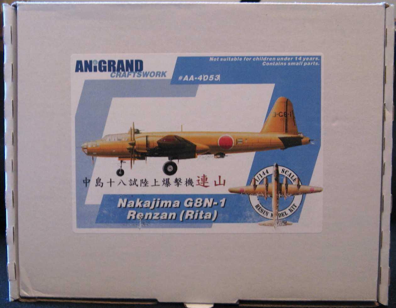 Anigland modelo 1   144 Middle Island Island Island g8n1 zanrita bombardero japonés de segunda guerra mundial 12b