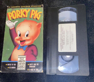 Porky-Pig-VHS-1992-4-Favorite-Cartoon-Classics-Notes-To-You-Be-Human-Daffy-amp