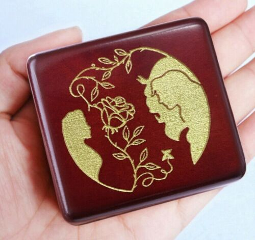 RED BEECH WOOD ENGRAVE ♫ BEAUTY AND THE BEAST ♫ MUSIC BOX