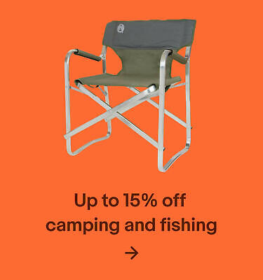 Up to 15% off camping and fishing