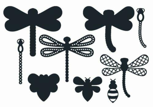 THE PAPER BOUTIQUE Cutting Dies DRAGONFLIES /& A BEE 9 Dies PBDPB1023