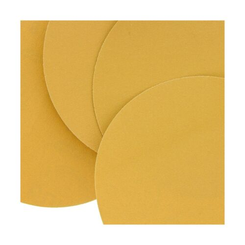 "Premium 180 Grit 6/"" Gold PSA Self Adhesive Stickyback Sanding D... Dura-Gold"