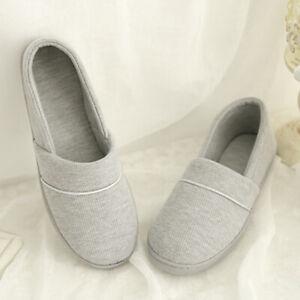 new style 7498e 061a9 Details zu Bequeme Damen Slip On Home Baumwolle Casual Hausschuhe waschbar  stricken
