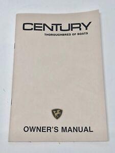 century boat original 1980 s owners manual resorter arabian coronado rh ebay com Mako Boat Owners Manual Boat Manual vs Automatic