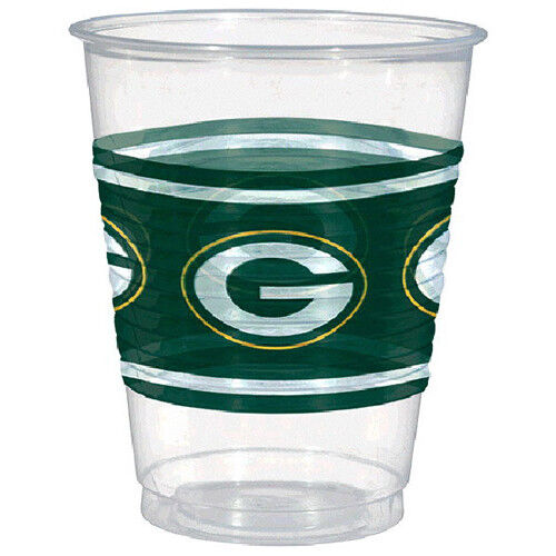 NFL GREEN BAY PACKERS 16oz PLASTIC CUPS 25 ~ Birthday Party Supplies Drink
