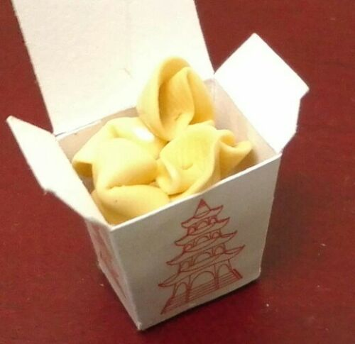 Dollhouse Miniature Bright deLights  Fortune Cookies in Chinese take out 1:12