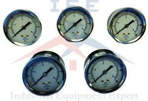 NEW-5-Pack-1-8-034-60-PSI-Air-Compressor-Pressure-hydraulic-Back-Mount-Gauges