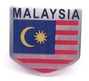 Aufkleber-Auf-Kleber-Emblem-3D-Malaysia-Metall-selbstklebend-Wappen-Flagge-Auto