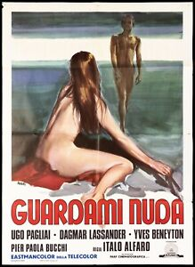 GUARDAMI NUDA MANIFESTO FILM EROTICO 1972 WATCH ME NAKED SEXY MOVIE POSTER 2F