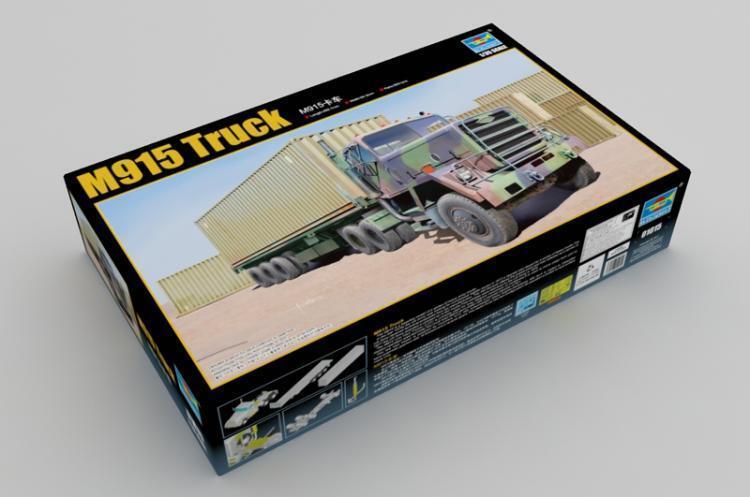 01015 camión remolque de tractor Modelo Trumpeter M915 Plástico Kit de armadura estática 1/35