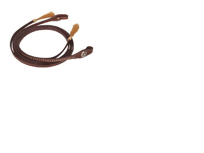 HKM Western Style Decorated Decorated Decorated Reins Braun, FREE DELIVERY 7948e6