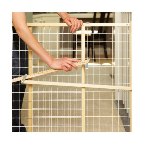 """Fits Spaces between 29.5/"""" to 50/"""" wide and 32... Supergate X Wide Wire Mesh Gate"""