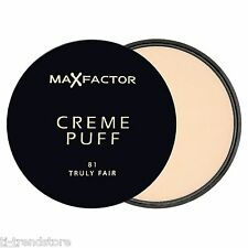 Max Factor Puder Gesichtspuder Make Up Creme Puff 81 TRULY FAIR Neu