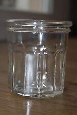 Ancien joli pot à confiture - 12 facettes avec bulles d'air (ref 46)