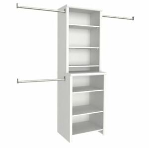 Image Is Loading Wood Closet Systems 8 Shelves 25 In White