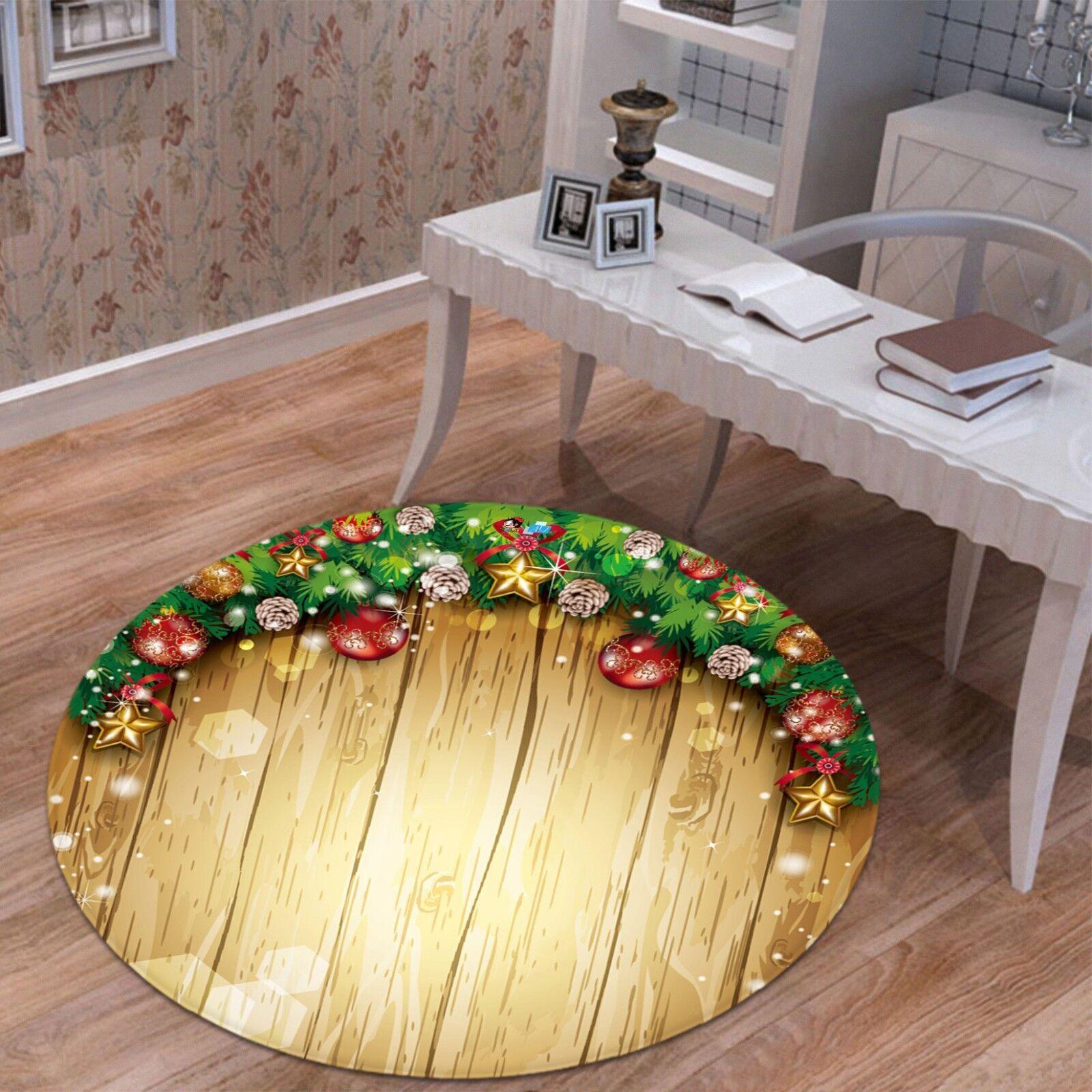 3D Weihnachten Xmas 650 Rutschfest Teppich Matte Raum Runden Runden Runden Elegant Teppich DE a459b8