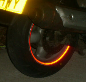REFLECTIVE-SCOOTER-WHEEL-rim-STICKERS-tape-7-COLOURS-inc-BLACK-reflects-White