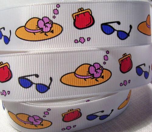 RUBAN GROS GRAIN ** 22 mm ** Accessoires Femme Chapeau Lunettes sac 1 mètre