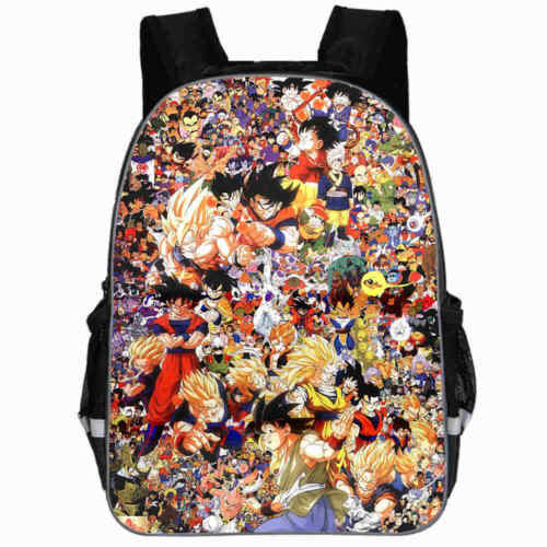 "Dragon Ball Backpack Girls Boys Kids 16/"" School Travel Bag Goku"