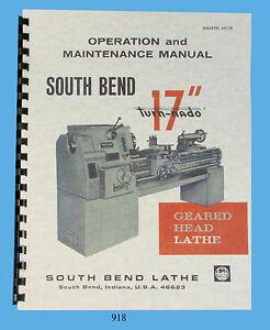south bend lathe 17 turn nado operation maintenance parts list rh ebay com South Bend Lathe ManualsOnline South Bend Lathe Information