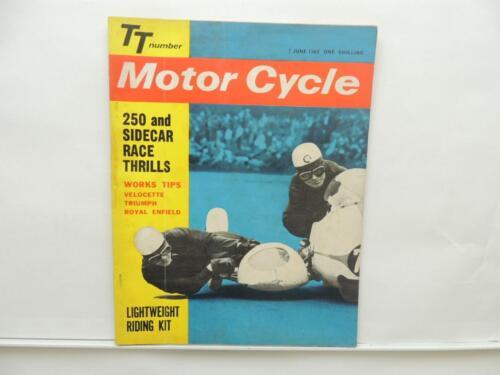 June 1962 Motorcycle 250 Sidecar Velocette Triumph Royal Enfield Norton L7998