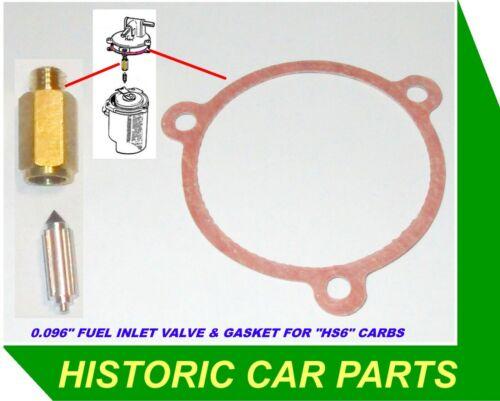 Válvula de aguja de entrada de combustible en HS6 su Carburador en MGCGT /& MGC 2.9 LT 1967-69
