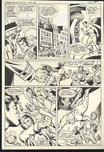 Freedom Fighters #5 pg 26 Original Comic Art Ramona Fradon Superman Uncle Sam