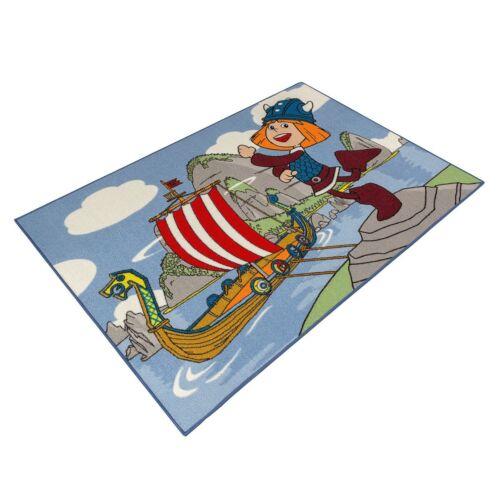 Teppich Wickie Kinderteppich Kinder Spielteppich bunt 95x133 cm