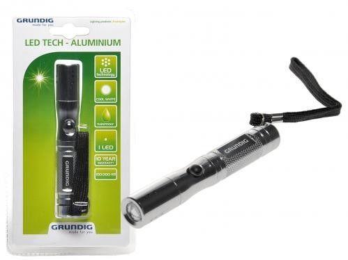 GRUNDIG LED Taschenlampe aus Aluminium