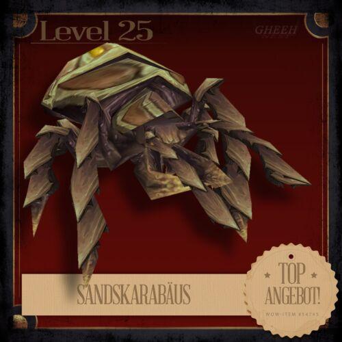 » SandskarabäusSand ScarabWorld of WarcraftPet HaustierTCG L25 «