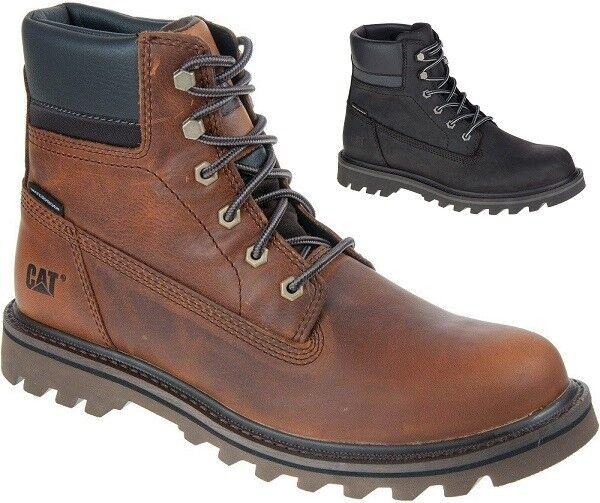 CAT CATERPILLAR agotar al Tobillo Zapatos Informales de Cuero Impermeable botas Para Hombres Nuevo