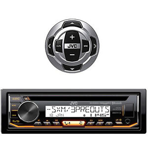 KDR99MBS-JVC-Bluetooth-AUX-CD-USB-Marine-Receiver-JVC-Marine-Boat-Wired-Remote