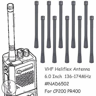 "10x VHF 136-174MHz Heliflex Antenna for MOTOROLA HT10 HT50 HT600 HT750 Radios 6/"""