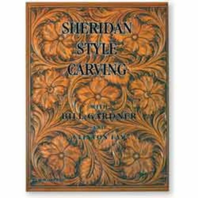 by Chan Geer Sheridan Style Tooled Checkbook Video DVD Leathercraft