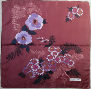 -superbe Foulard Christian Dior Soie Tbeg Vintage Scarf 76 X 77 Cm