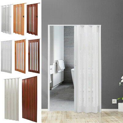 Pvc Concertina Accordion Folding Door Caravans Kitchen Bathroom Room Divider Kit Ebay