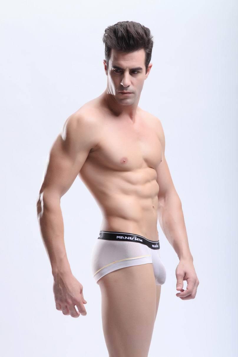Shorty mini boxer Talla XL Blanco transparent Manview Manview transparent  NEOFAN sheer sexy ™ M08 feb2f9