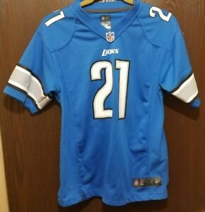 Nike Blue Reggie Bush Detroit Lions   21 Football Jersey Youth Large ... 798752565
