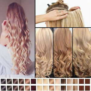 Mega Thick 100 Natural Clip In Hair Extensions As Human Blonde