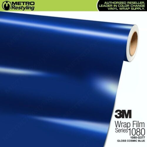 3M 1080 G377 GLOSS COSMIC BLUE Vinyl Vehicle Car Wrap Decal Film Sheet Roll