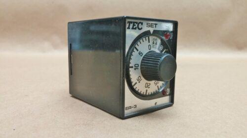 Tokyo Electric Company TEC Time Delay Relay  ER-31B   #2976