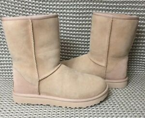 4654e910be7 Details about UGG Classic Short II Amberlight Suede Fur Boots Womens Size 9