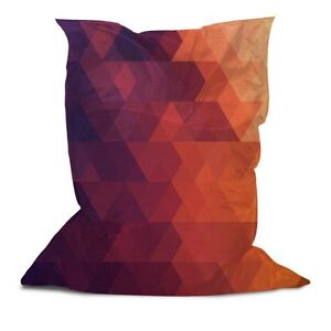 Magnificent Details About Original Bean Bag Pillow Chair Soft Comfortable W Printed Triangle Stripes 3 Ibusinesslaw Wood Chair Design Ideas Ibusinesslaworg