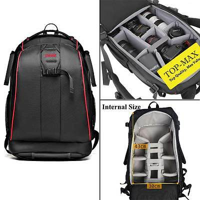 For Canon Nikon Sony DSLR Large Capacity Camera Rucksack Case Bag Sport Backpack