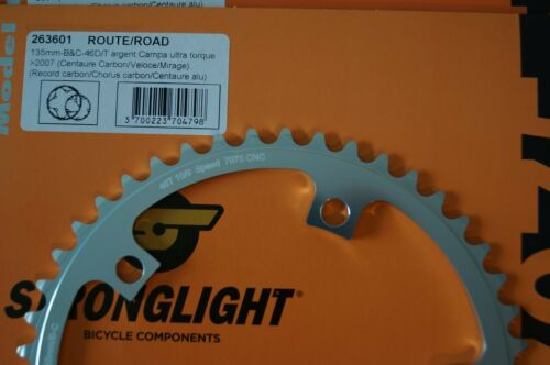 Stronglight Zicral Campagnolo Fit Chainring 135 BCD 42//46//50//52T 10//9spd 5-Bolt