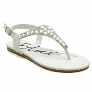 a6c80e3a0 Image is loading Womens-Rhinestone-Sandals-Beaded-Jeweled-Gladiator-T-Strap-