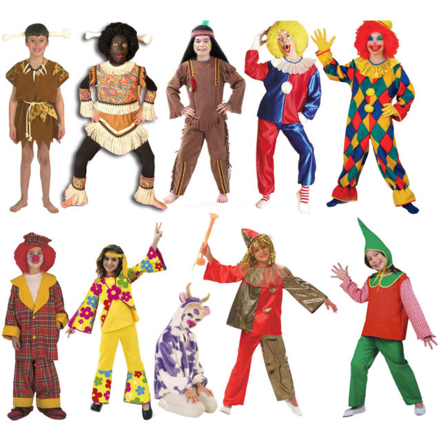 Unisex Kinderkostüm Karneval Fasching Jungen Mädchen Verkleidung Gr. 98-164 neu
