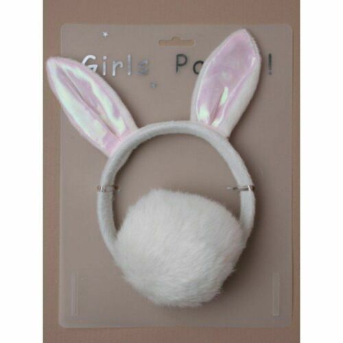 EASTER Plush Bunny White Rabbit Headband Ears Tail Fancy Dress Set Cute